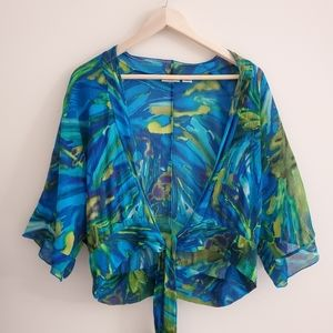 Chico's Silk summer crop blouse